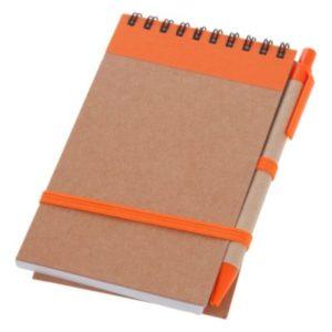 Notatnik z długopisem, pomarańczowy, formatu a6