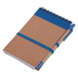 Notatnik ok. A6 z długopisem, niebieski